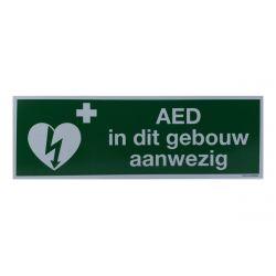 Sticker AED aanwezig