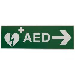 AED bord met pijl rechts 30x10