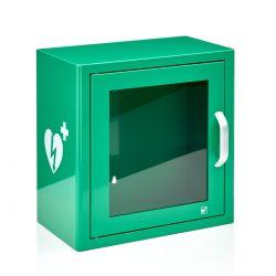 AED binnenkast Groen met alarm en logo