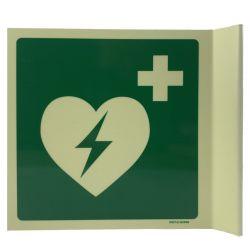 AED bordje haaks lichtgevend