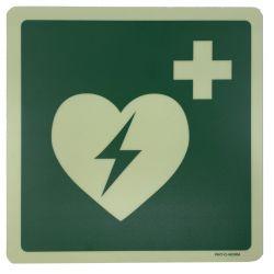 AED sticker glow 20x20