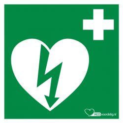 AED sticker 15x15