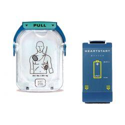 AED elektrode + batterij Philips