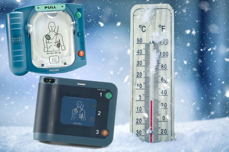 Philips AED's laten van zich horen bij kou
