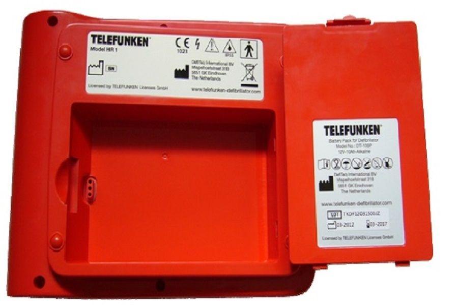 Hoe vervang ik de accu van een Telefunken AED